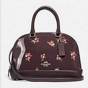 Coach Mini Oxblood Patten Leather Purse F31354